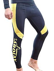 SABOLAY Pánské Potápěčské Skins Neopren kalhoty Odolný vůči UV záření Komprese elastan Polyester Taktel Diving SuitKalhoty Plavky