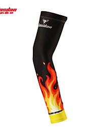 braço aquecedores Moto Respirável Secagem Rápida Resistente Raios Ultravioleta Compressão Unissexo Preto Terylene