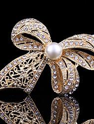 povoljno -Žene Slatko Posao Ležerne prilike Slatka Style Biseri Kristal Kubični Zirconia Legura Rukav leptir Sa životinjama Zlato Jewelry Za