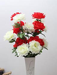 fiori artificiali di alta qualità peonie fiore fiore di seta per il kit di fiore decorazione 1pc / set
