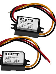 2X Dc-Dc Converter 12V To 6V 3A Step Down Power Supply Module Waterproof