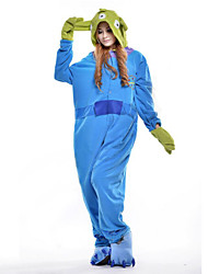 cheap -Kigurumi Pajamas Blue Monster / Monster Onesie Pajamas Costume Polar Fleece Cosplay For Adults' Animal Sleepwear Cartoon Halloween