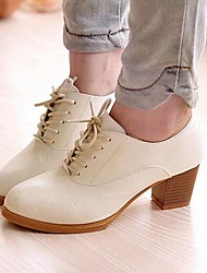 Women's Shoes Libo 2017 New Style Chunky Heel Comfort Oxfords Office & Career / Casual Black / Brown / White / Beige