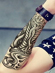 Flame Cobra   Waterproof Flower Arm Temporary Tattoos Stickers Non Toxic Glitter