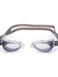 Óculos de Natação Unisexo Anti-Nevoeiro Gel Silica PC Branco / Preto / Azul Vermelho / Cinzento / Azul / Azul Escuro