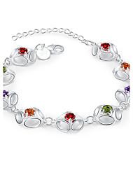 abordables -Bracelet Chaînes & Bracelets Cristal / Zircon / Cuivre / Plaqué argent Soirée / Quotidien / Décontracté / Sports Bijoux Cadeau Argent,1pc