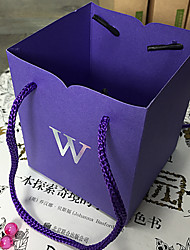 Cubic Card Paper Favor Holder With Favor Bags-6 Wedding Favors