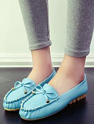 cheap -Women's Spring Summer Fall Winter Leatherette Outdoor Dress Casual Flat Heel Black Blue Pink White