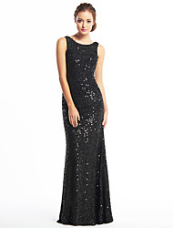 cheap -Mermaid / Trumpet Scoop Neck Floor Length Sequined Celebrity Style Prom / Formal Evening Dress with Sequin by TS Couture®