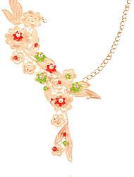 abordables -Mujer Perla Gargantillas / Collares Declaración / Collar con perlas - Perla, Tela de Encaje Flor Europeo, Moda Pantalla de color Gargantillas Para Ocasión especial, Cumpleaños, Regalo