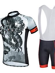 levne -cheji® Cyklodres a kraťasy se šlemi Pánské Krátké rukávy Jezdit na kole Cyklistické šortky Dres Návleky na ruce Sady oblečení