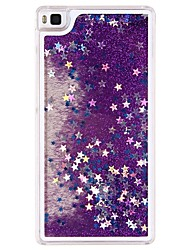 cheap -Case For Huawei / Huawei P8 Lite Huawei Case Flowing Liquid Back Cover Glitter Shine Hard PC for Huawei P8 Lite / Huawei