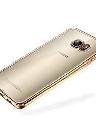 economico -Custodia Per Samsung Galaxy Samsung Galaxy S7 Edge Placcato / Transparente Per retro Tinta unita TPU per S7 edge / S7 / S6 edge