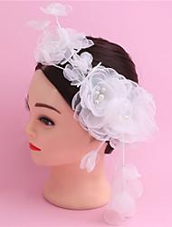 Недорогие -кистями вручную сжечь краевые шелковые цветы шины свадебное платье аксессуары для волос невесты головной убор Flowe