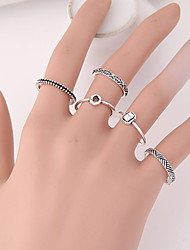 cheap -Women's Hot New European Fashion Punk Ring Set 5PCS