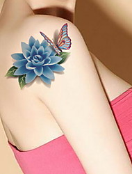 Temporary Tattoos body Wrist Flower Series 3D Waterproof Tattoos Stickers Non Toxic Glitter Large Fake Tattoo Body Jewelry Halloween Gift 22*15cm