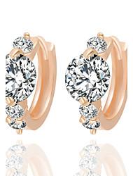 Sitne naušnice Zircon Legura Pink Zlatan Jewelry Za Vjenčanje Party Dnevno Kauzalni Sport 1set
