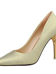 preiswerte -Damen Schuhe Glitzer Frühling Sommer Pumps Komfort High Heels Stöckelabsatz Geschlossene Spitze Spitze Zehe für Büro & Karriere Party &