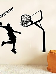 cheap -Dunk Decal Wall Stickers Art Home Decor Basketball Sports Just Do It Letter Quote Sticker For Boys Rooms