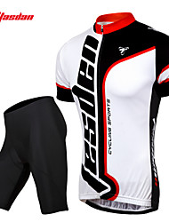 economico -TASDAN Per uomo Manica corta Maglia con pantaloncini da ciclismo Bicicletta Pantaloncini /Cosciali Maglietta/Maglia Set di vestiti,