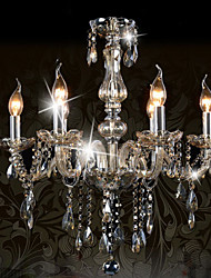 cheap -Ecolight™ 110V OR 220V 6 Lights Luxury Crystal Chandelier/Cognac Color/K9 Crystal Chandeliers Living Room / Bedroom