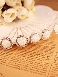 Imitation Pearl Rhinestone Hair Pin Headpiece