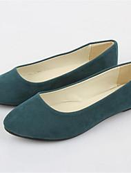 Femme Chaussures Laine synthétique Eté Talon Plat Pour Décontracté Kaki Vert clair Bleu royal Bourgogne Vert foncé