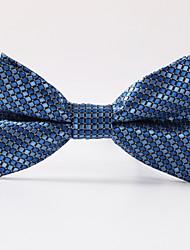 Недорогие -мужская вечеринка / вечерняя свадьба формальная синяя сетка формальный полиэфир лук галстук