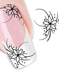 Water Transfer Printing The Orchid Grass Nail Stickers