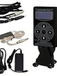 BaseKey 1Set Dual Digital Hurricane Black Tattoo Power Supply Foot Pedal Clip Cord