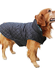 cheap -Dog Coat Vest Winter Clothing Dog Clothes Reversible Keep Warm Reversible Plaid/Check Beige Brown Red Green Costume For Pets