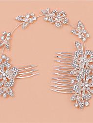 abordables -el nuevo tipo de novia largo de múltiples funciones peina con diamante brillante aleación tocado