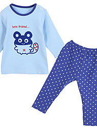 cheap -Baby Boys' Clothing Set, Cotton All Seasons Long Sleeves Blue