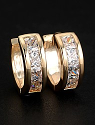 Stud Earrings Hoop Earrings Costume Jewelry Zircon Alloy Jewelry For Wedding Party Daily Casual Sports