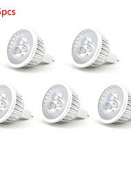 cheap -5pcs 3W MR16 LED Spotlight MR16 3 SMD 250lm Warm White Cold White Decorative DC12V