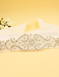 cheap -Satin Wedding Party / Evening Sash With Rhinestone Beading Women's Sashes