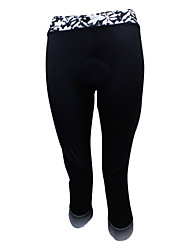 SPAKCT Pantaloni a 3/4 da ciclismo Per donna Bicicletta Pantalone/Sovrapantaloni 3/4 Collant/Corsari Traspirante Compressione Pad 3D