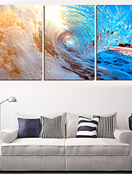 cheap -2016Modern Sea Wave Painting On The Wall 3 Piece Modular Pictures Wall Pictures For Linving Room Prints No Frame