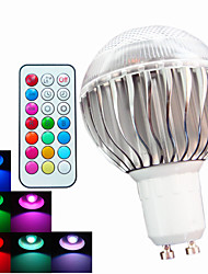 cheap -GU10 LED Globe Bulbs A60(A19) 3 High Power LED 400 lm RGB RGB K Dimmable Remote-Controlled Decorative AC 100-240 V