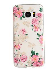 economico -Custodia Per Samsung Galaxy Samsung Galaxy S7 Edge Fantasia / disegno Per retro Fiore decorativo TPU per S7 edge / S7 / S6 edge