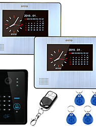 cheap -ENNIO 7inch 900TVL Color Video Door Phone Intercom 2 monitors  with Record Keypad Remote Control Unlock