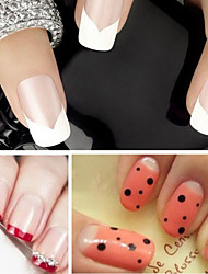 cheap -1pcs French Tips Guide 3D Nail Stickers Nail Stamping Template Daily Fashion Lovely High Quality