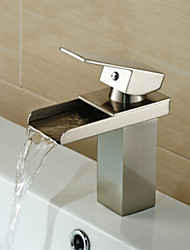 cheap -Waterfall Nickel Brushed Hot and Cold Bathroom Faucet