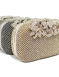 cheap -Women's Bags Polyester Evening Bag Crystal / Rhinestone for Wedding / Event / Party / Formal Gold / Black / Silver