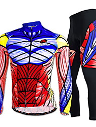 cheap -Nuckily Cycling Jersey with Tights Men's Long Sleeves Bike Clothing Suits Quick Dry Windproof Ultraviolet Resistant Moisture Permeability