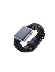 economico -Cinturino per orologio  per Apple Watch Series 3 / 2 / 1 Apple Chiusura moderna Tessuto Custodia con cinturino a strappo