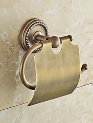 Недорогие -Держатель для туалетной бумаги , Традиционный Античная медь Крепление на стену
