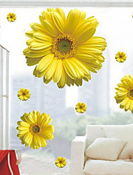 cheap -Wall Stickers Wall Decals, Style Daisy PVC Wall Stickers