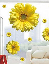 abordables -pared calcomanías pegatinas de pared, estilo de pvc margarita pegatinas de pared