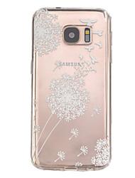 billiga -fodral Till Samsung Galaxy Samsung Galaxy S7 Edge Läderplastik Skal Djur TPU för S7 edge / S7